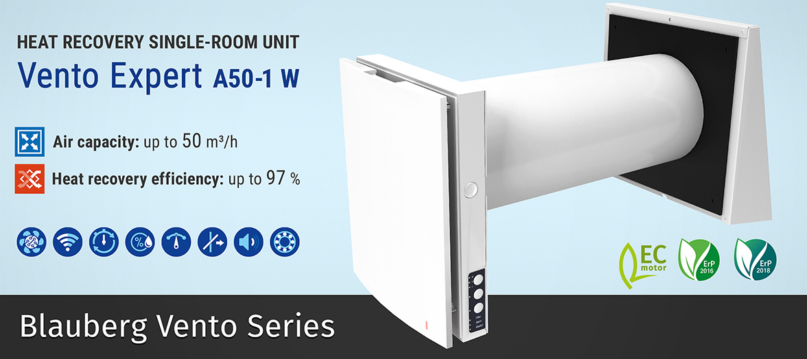 decentralised single room heat recovery units