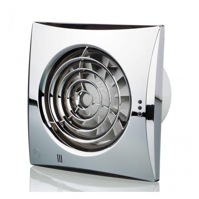 Blauberg Calm Low Noise Energy Efficient Bathroom Extractor Fan 100mm Chrome Pull Cord