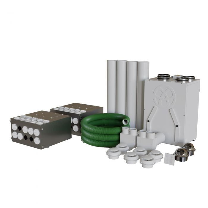 Mvhr Self Build Diy Whole House Heat Recovery Ventilation Kit 2 Bedroom Apartment Or Flat