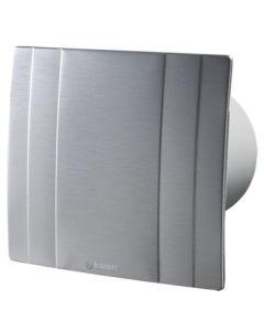 Blauberg Quatro High Tech Designer Bathroom Extractor Fan Brushed Metal - 100mm