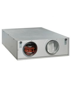 Heat Recovery Ventilation Unit  EC DE Horizontal Slimline Ceiling Mounted MVHR with Electric Heater Battery