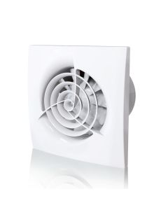 "Quiet Bathroom Extractor Fan with Humidity Sensor & Timer Blauberg Trio Powerful Wall & Ceiling Mounted Ventilator 4 "" 100 mm"