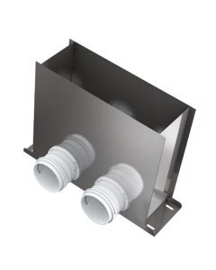 Floor Mounted Grille Plenum Box 75mm Blaufast MVHR Semi Rigid Radial Ducting System Heat Recovery Ventilation