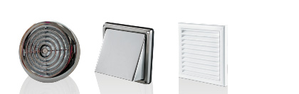 Grilles, Vents and Ceiling Diffusers for Heat Recovery Ventilation Systems
